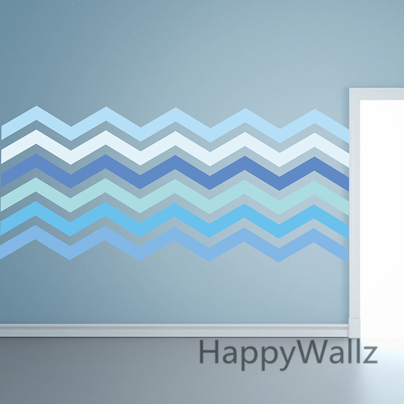 DIY Chevron Stripes Wall Sticker Chevron Wall Decals Modern Decorative  Stripes Mural Wallpaper Baby Nursery Kids Room Decors P64 In Wall Stickers  From Home ...