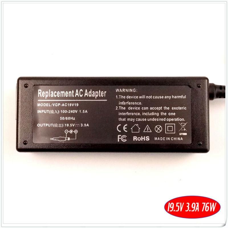 Для sony VAIO VGP-AC19V37 VGP-AC19V33 VGN-S4 VGN-S5 ноутбук Батарея Зарядное устройство/адаптер переменного тока 19,5 V 3.9A