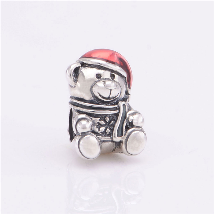 342631ec4 2015 New Original Beads Lovely Teddy Bear Charm 100% Sterling Silver Women  DIY Jewelry Making Fits European Charms Bracelets-in Beads & Loose  Gemstones from ...