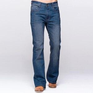 Image 3 - GRG Mens Jeans Tradition Boot Cut Leg Fit Jeans Classic Stretch Denim Flare Deep Blue Jeans Male Fashion Stretch Pants