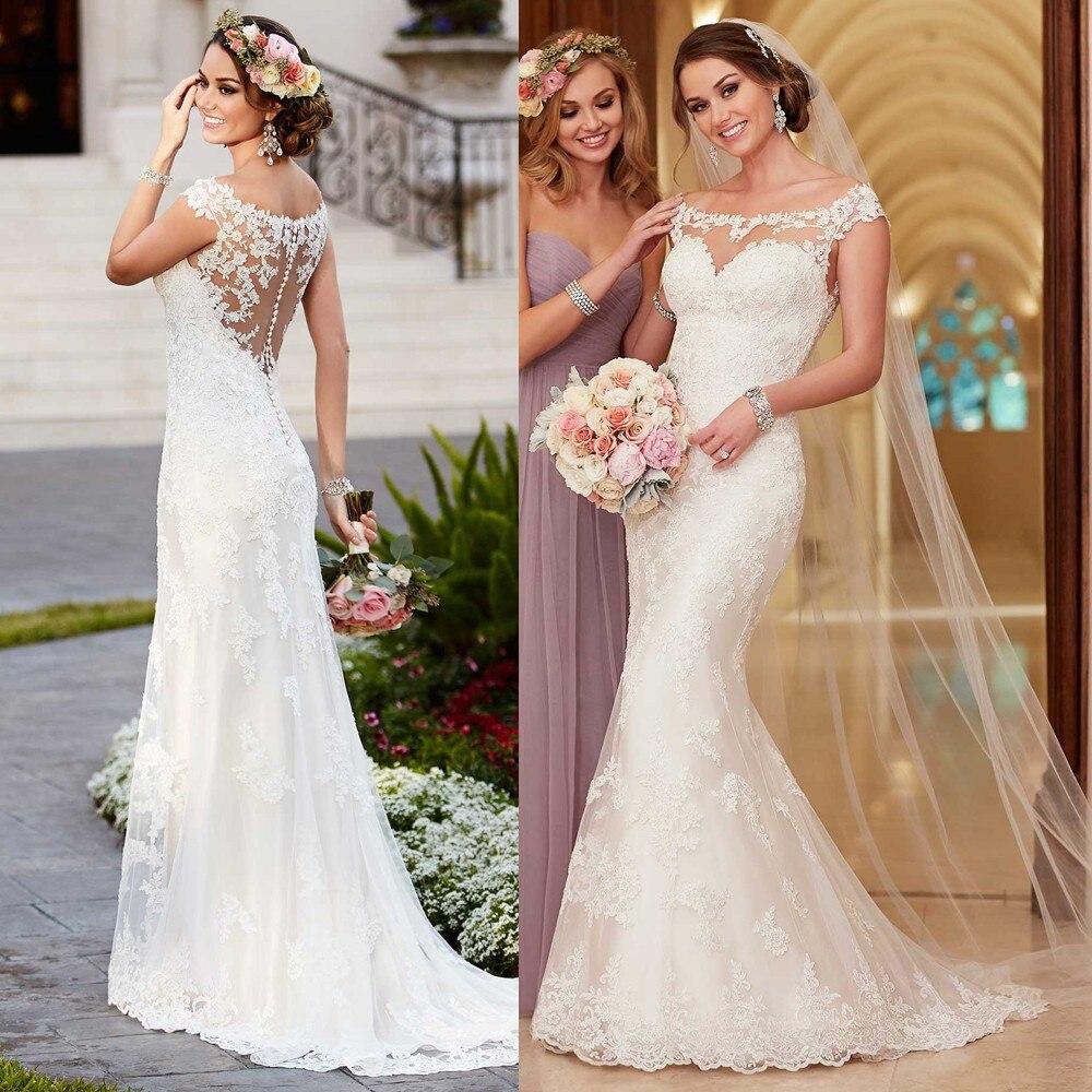 Vintage Lace Wedding Dress 2017 New Mermaid Boho Bride ...