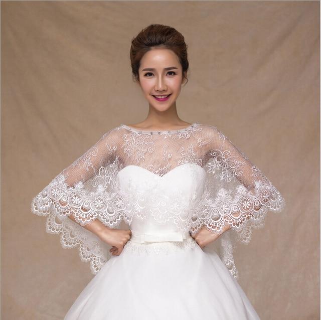 Wedding Party Evening Dress Lace Ponchos Wraps 2017 Bridal Wrap Accessories Shawl Jacket