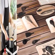 Meijuner Kitchenware Silicone Heat Resistant Non-stick Cooking Baking Tool Spoon Utensils Dinnerware Set Accessories Supplies