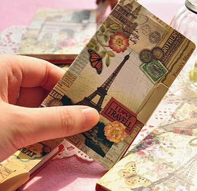 1PCS/LOT New Vintage Tower Scenery series sticky notepad Memo message post marker label wholesale