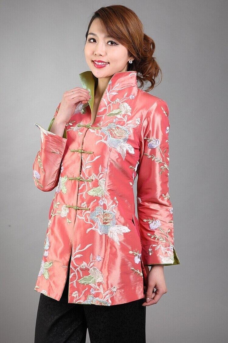 Vente Manteau Lady Polyester Bleu Nºtop Col Satin Mandarin Bouton dwqUx1P