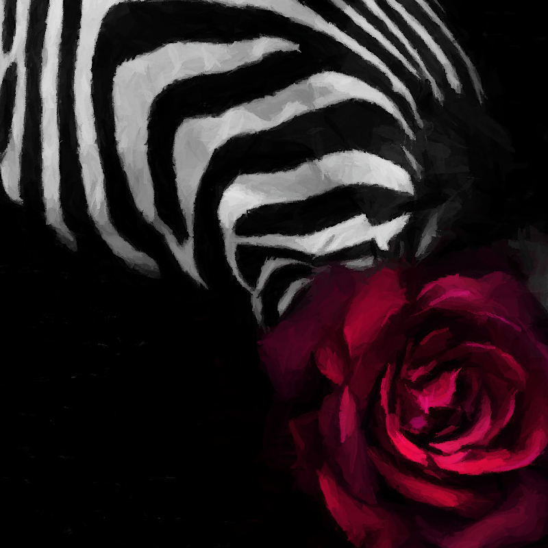 Nordic Style Rose Zebra Posters and Prints Watercolor Canvas Painting Wall Art Decorative Picture for Living Room Decoration in Painting Calligraphy from Home Garden