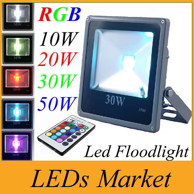Lights & Lighting New Arrival 10w 20w 30w 50w Led Floodlight Waterproof Rgb Warm/cool White Led Projector Lights For Outdoor Lights 85-265v Ul Street Price
