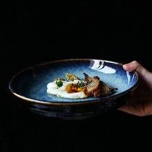 Kinglang керамическая тарелка для ужина глубокая салата 85 дюймов