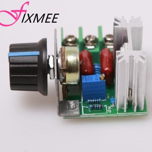 Nuevo 2 unids/lote PWM AC controlador de velocidad del Motor con perilla 50 ~ 220 V