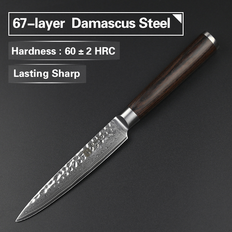 Aliexpress.com : Buy XINZUO 4 Pcs Kitchen Knife Set Damascus Steel Kitchen  Knife Set Stainless Steel Chef Utility Knife Rosewood Handle Free Shipping  From ...
