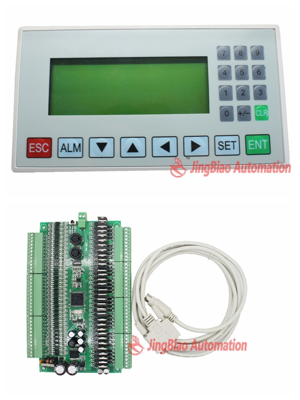 display screen HIM MD204L OP320-A +FX1N plate PLC 64MR or 64MT 32input 32 output RS485 modbus communication display screen him md204l op320 a 64mt 32input 32 transistors output plc