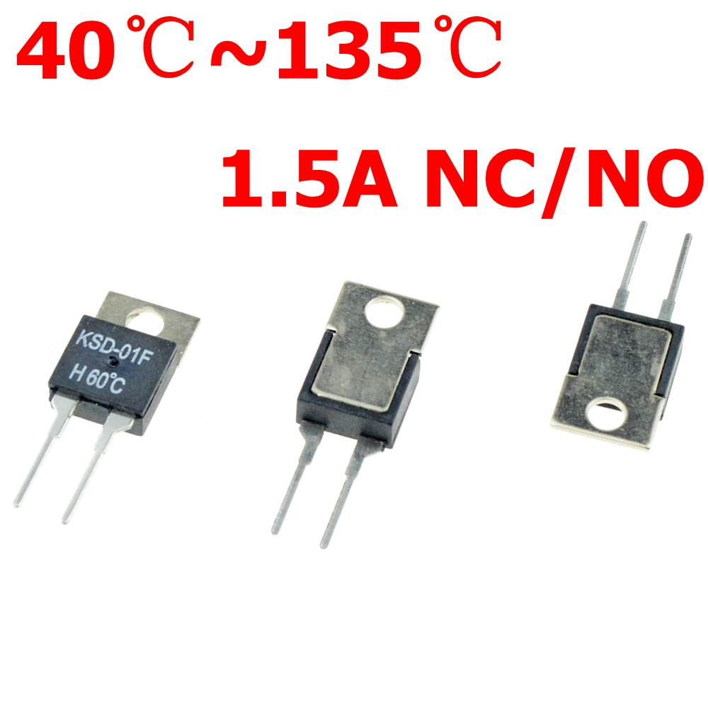 цена на 40 50 60 70 80 90 100 DegC NC Normally Closed NO Normally Open 1.5A Thermal Switch Temperature Sensor Thermostat KSD-01F JUC-31F