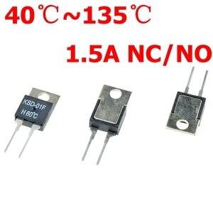 Image 1 - 40 50 60 70 80 90 100 DegC NC בדרך כלל סגור אין בדרך כלל פתוח 1.5A תרמית מתג טמפרטורת חיישן טרמוסטט KSD 01F JUC 31F