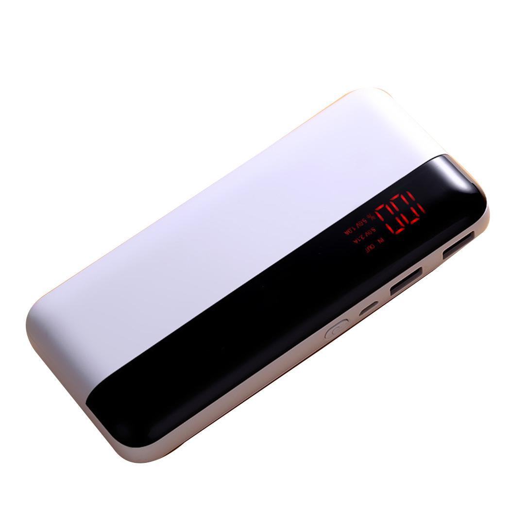 Dual USB Ports 6500mAh Power Bank With LED Light Portable Digital Display <font><b>Smartphone</b></font> General Mobile Power For Xiaomi iPhone image
