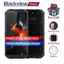 BLACKVIEW BV9500 IP68 5,7 «18:9 водонепроницаемый смартфон 10000 мАч Беспроводной зарядное устройство 4G + 6 4G MT6763T Android 8,1 Dual сзади Камера 16MP