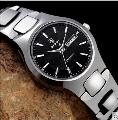 real tungsten watch made by tungsten steel scratch proof watch noble