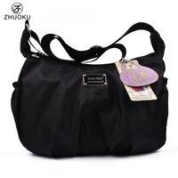 2017 New Korean Version Of The Ladies Light Nylon Bag Shoulder Handbag Solid Color Fashion Small