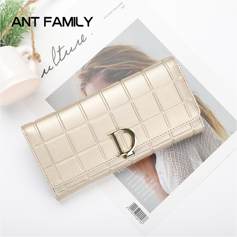 Genuine Leather Wallet Women Fashion Plaid Coin Purse Luxury Wallet Female Long Clutch Ladies Leather Wallets portefeuille femme high quality genuine leather women wallet long hasp wallets luxury brand plaid coin purse female clutch ladies leather wallets