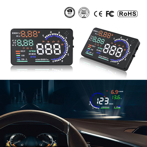 Image 5 - Hot Selling A8 5.5 inch HUD OBD2 Head Up Display For Car Digital Speedometer Windshield Projector Overspeed Alarm