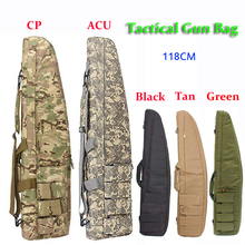 Κυνήγι 120cm Gun Τσάντα τουφέκι Υπαίθρια τακτική μεταφοράς τσάντες Στρατιωτική θήκη όπλων Θήκη ώμου για Airsoft Σκοποβολή Ζωγραφική Παιχνίδια