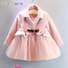 babzapleume Autumn Winter Baby Girls Wool Coats Pink Cute Princess Toddler Jackets For Kids Clothes Children Outerwear BC1079
