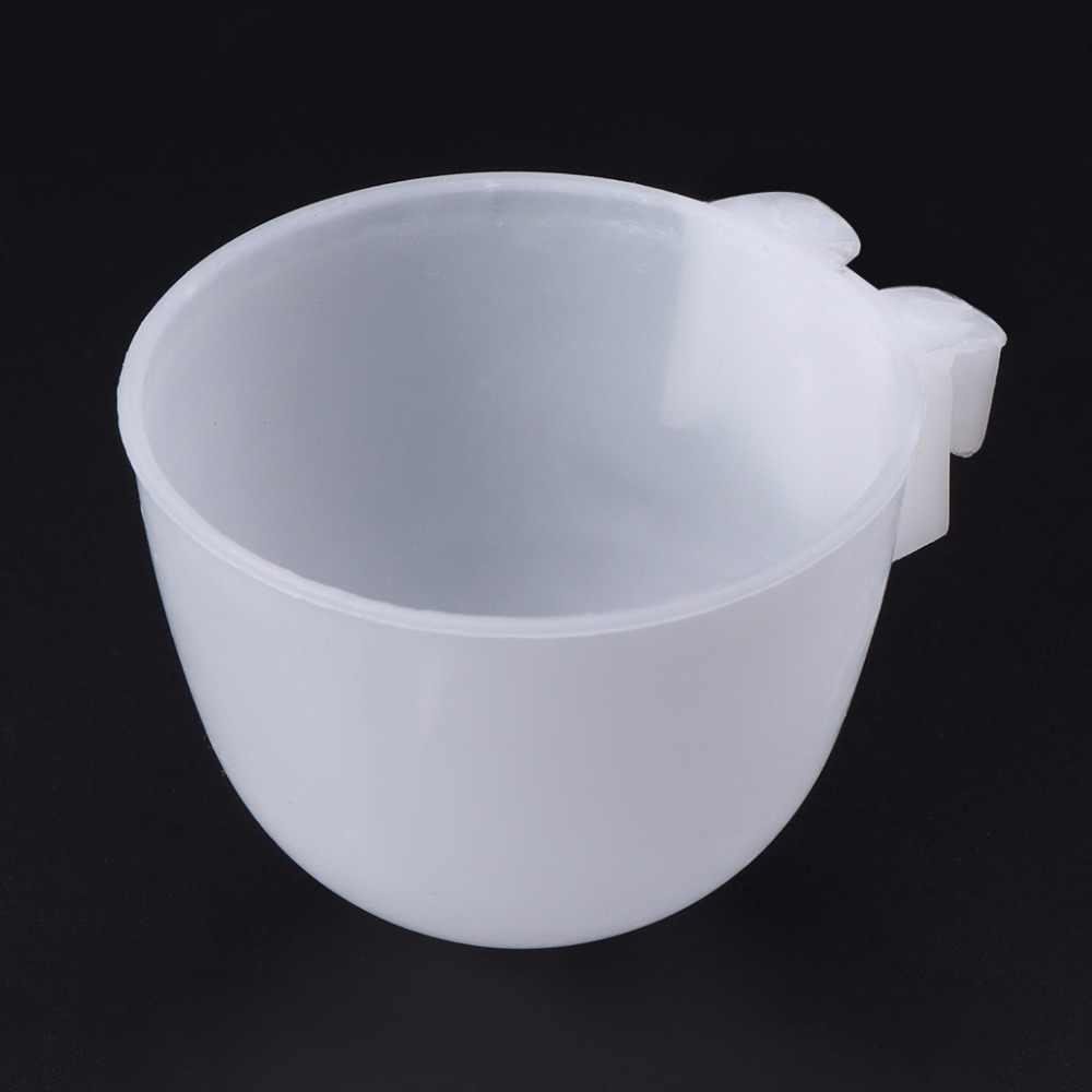 5pcs Bird Parrot Hamster Feeder Round bottom Feeding Bowl Hanging Water Drinking Food Cup Bird Feeding Tools C42