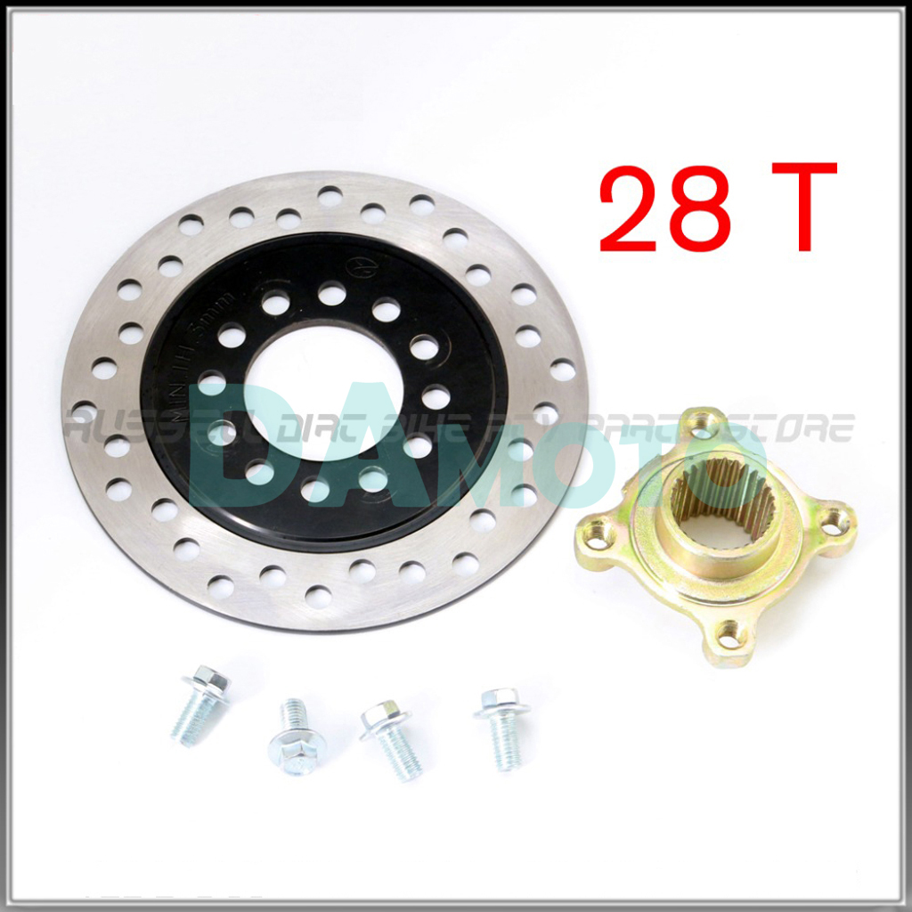 28t Teeth Hub With 160mm Brake Disc For China Kids Mini Atv 49/50/110cc Rear Axle Brake Quad Atv Utv Go Kart Buggy Bike Parts Atv,rv,boat & Other Vehicle