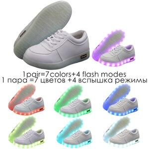 Image 4 - 7ipupas 25 44 発光スニーカー子供ledと靴は点灯 2018 点灯靴少年少女tenis ledシミュレーショングローイングスニーカー