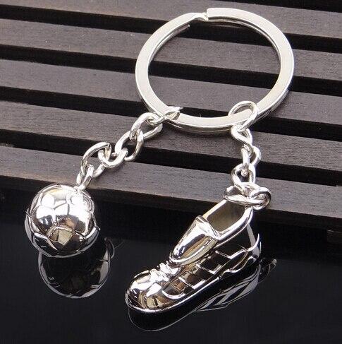 Metal Keychain New Key chain - Fashion Hot High Quality Soccer Shoes and Football Metal Car Key Ring Gift Bag Keychain