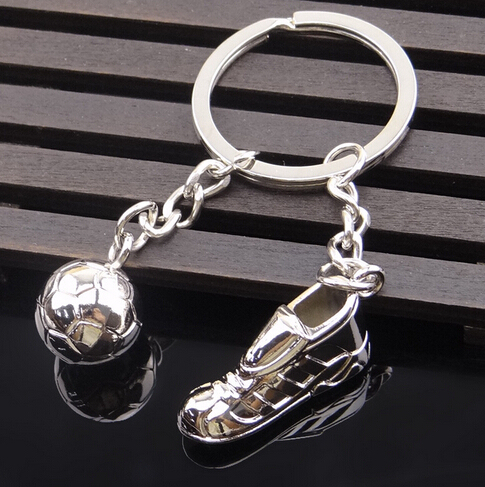 Metal Keychain New Key chain – Fashion Hot High Quality Soccer Shoes and Football Metal Car Key Ring Gift Bag Keychain