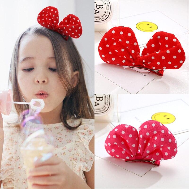 New Fashion Lovely Colorful Spot Bow Cartoon Hairpins Hair Accessories For Girls Cute Hair Clip Headband Barrettes Kids   Headwear