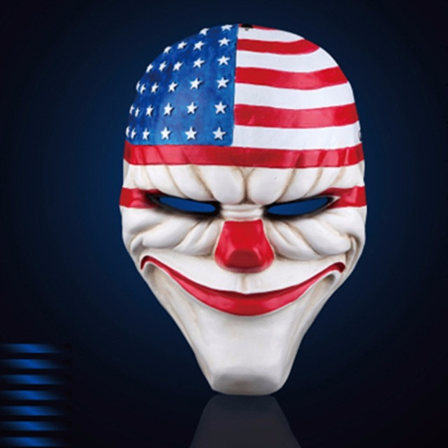 H&D 2017 Party Mask Masqu Resin Scary Dallas Mask Payday2