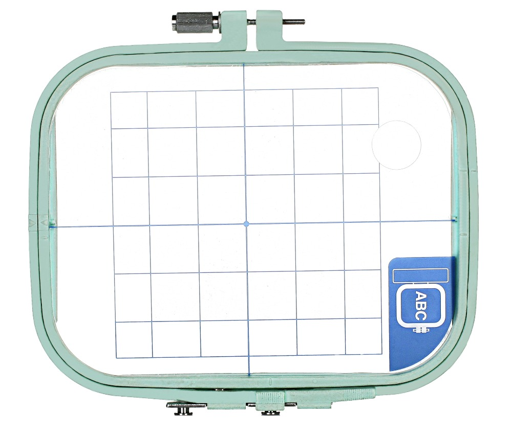 """Regular Hoop 4"""" x 4"""" Embroidery Machine Hoop / Frame for for Brother PE100 150 150V 170D 180D 190D 200 - Replaces SA417 EF32"""