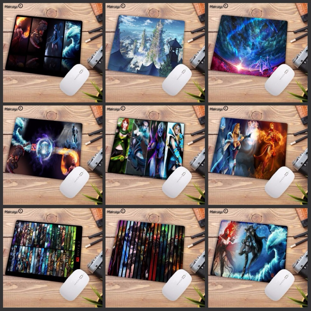 Mairuige DOTA 2 Ultimate Gaming Speed Mousepad Natural Rubber Gamer Mouse Mat Pad Game Computer Desk Pad Mouse Play Mat 18X22CM