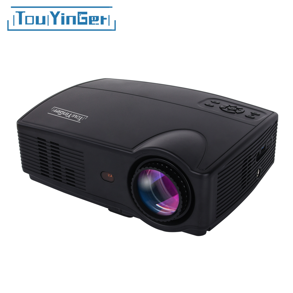 цена Touyinger Everycom X9 LED HD Projector 3500 Lumens Beamer 1280*800 LCD TV Full HD 4K Video Home Theater Multimedia HDMI /VGA/ AV