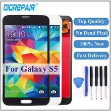For Samsung S5 Screen For Samsung Galaxy S5 LCD G900 G900F Display Touch Screen Digitizer Assembly For Samsung S5 Display(China)