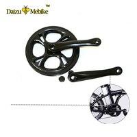 48T Bicycle Crankset 1 Pair Black Sliver Color Alloy Aluminum Bike Crankset Crank Double Layer White