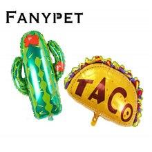 Décorations de fête mexicaine, ballons en feuille à hélium en forme de cactus et de lama, pour fête TACO BOUT LOVE, tacos twosday