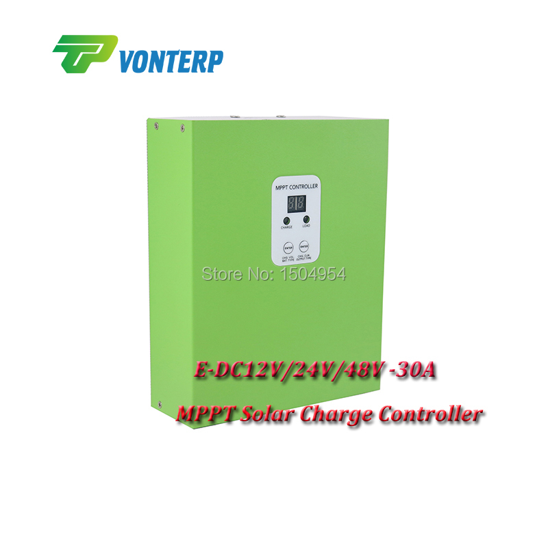 MPPT 30A solar charge controller,Battery Panel Regulator 12V/24V/48VDC AUTO MPPT 30A Solar charge Controller 450w mppt hybrid controller 300w wind turbine 150w solar panel 12v 24v auto work battery charge regulator solar systen