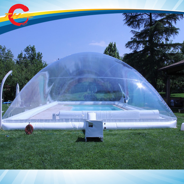 Free Shipping Giant Outdoor Clear Inflatable Pool Cover Transparent Inflatable Pool Bubble Dome