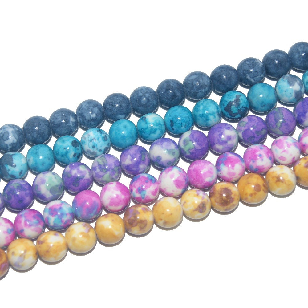 Wholesale A Variety Of Colors Natural Stone Beads For Jewelry Making  Yourself Bracelet Material 4 / 6 / 8 / 10 / 12MM 16