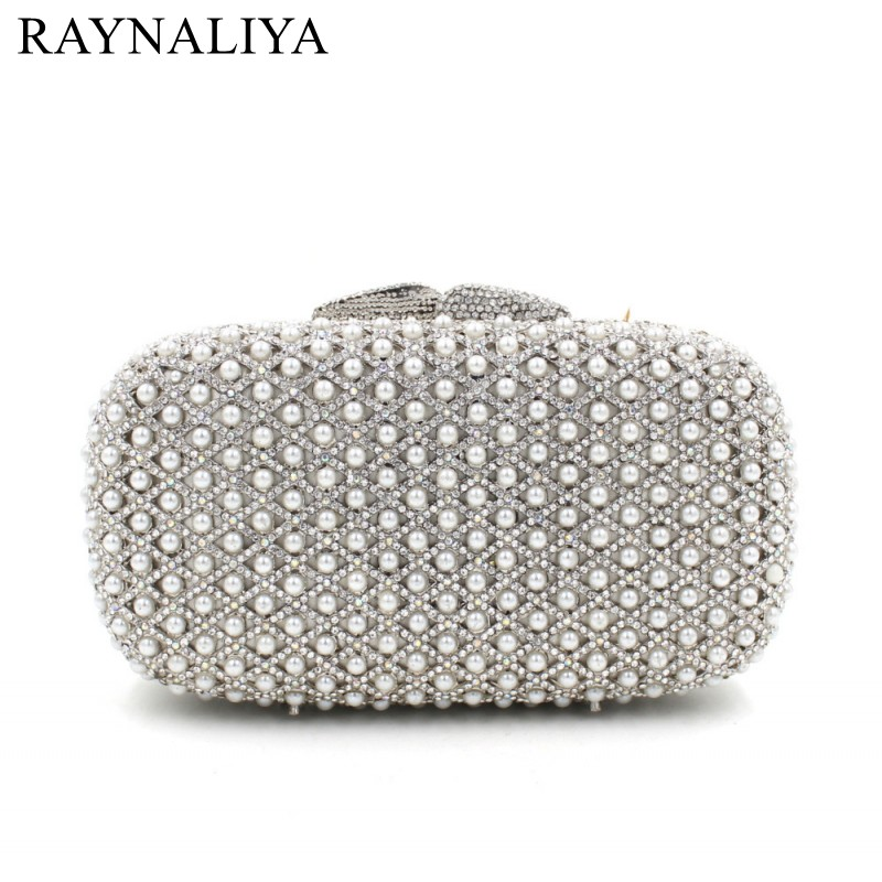 2017 Luxury Pearls Beaded Purse Evening Clutch Bag Wedding Clutch Diamond Evening Bags Bride Wallet Chain Handbags SMYZH-E0049 обложка для автодокументов женская dimanche loriсata rouge цвет бледно красный 551 8