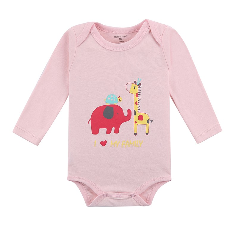 Mother Nest 3 Pieceslot Cartoon Style Baby Girl Boy Autumn Clothes New Born Body Baby Ropa Next Baby Bodysuit (1)