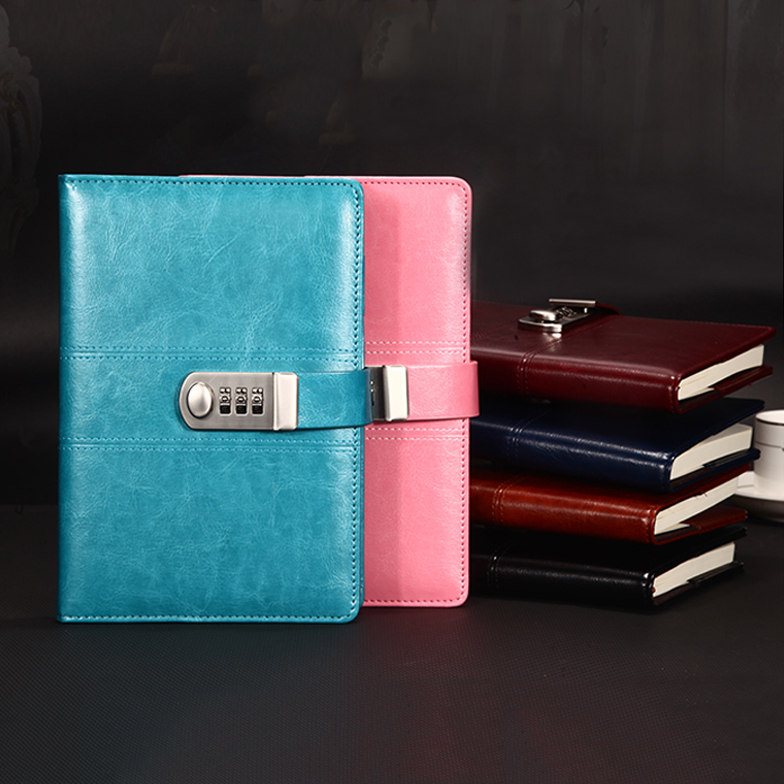 RuiZe creative leather notebook A5 hardcover note book journal planner stationery personal agenda 2019 password diary with lockRuiZe creative leather notebook A5 hardcover note book journal planner stationery personal agenda 2019 password diary with lock