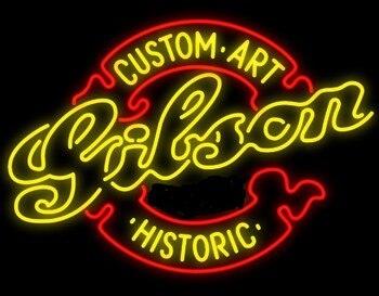 Custom Gibson Chitarra di Vetro Luce Al Neon Della Birra Bar