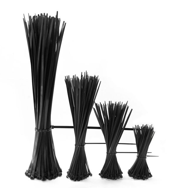 61f01aa8f3d1 Cable Zip Ties 4+6+8+12 inch Self Locking Nylon Cable Wire Tie Black for  Home Office Garden Garage, workshop