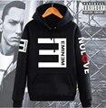 Обратный E Хип-Хоп Eminem Балахон Утолщаются Пальто Мода мужская Clothing дрейк флисовая Толстовка с капюшоном спортивный костюм 2016 осень зима