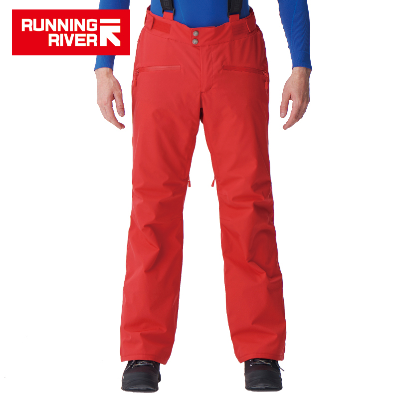 RUNNING RIVER Brand Men Winter Ski Pants With Shoulder Straps 5 Colors 6 Sizes Snow Pants