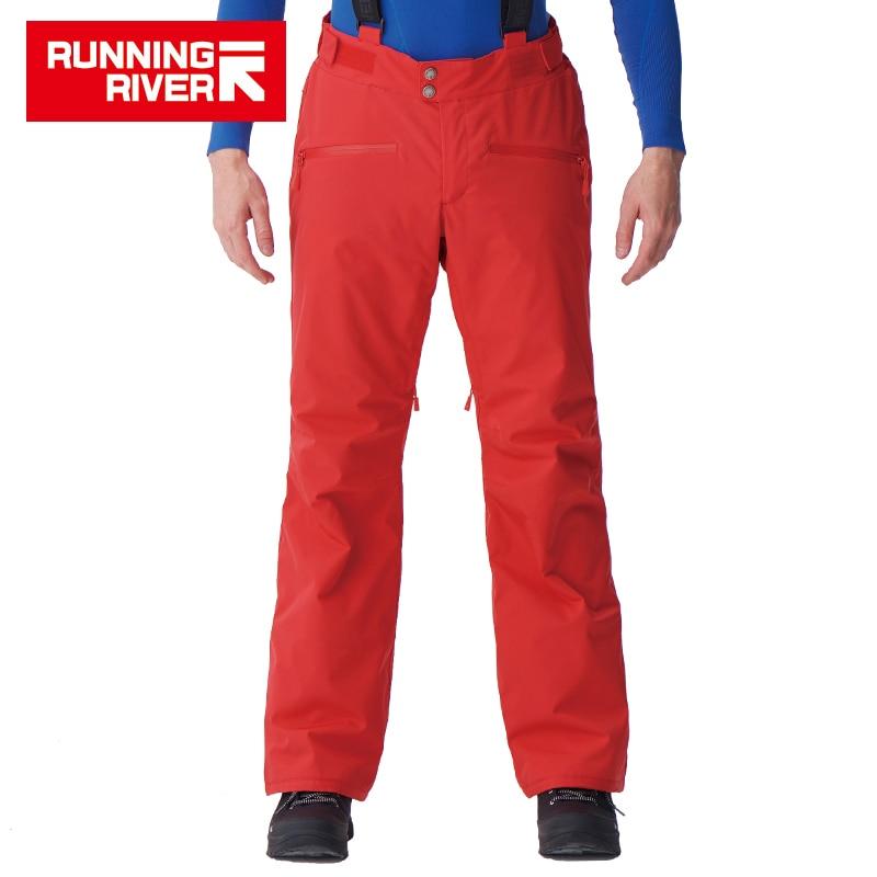 RUNNING RIVER marque hommes hiver pantalons de Ski avec bretelles 5 couleurs 6 tailles pantalons de neige pour le Ski pour homme pantalons de sport # B7095