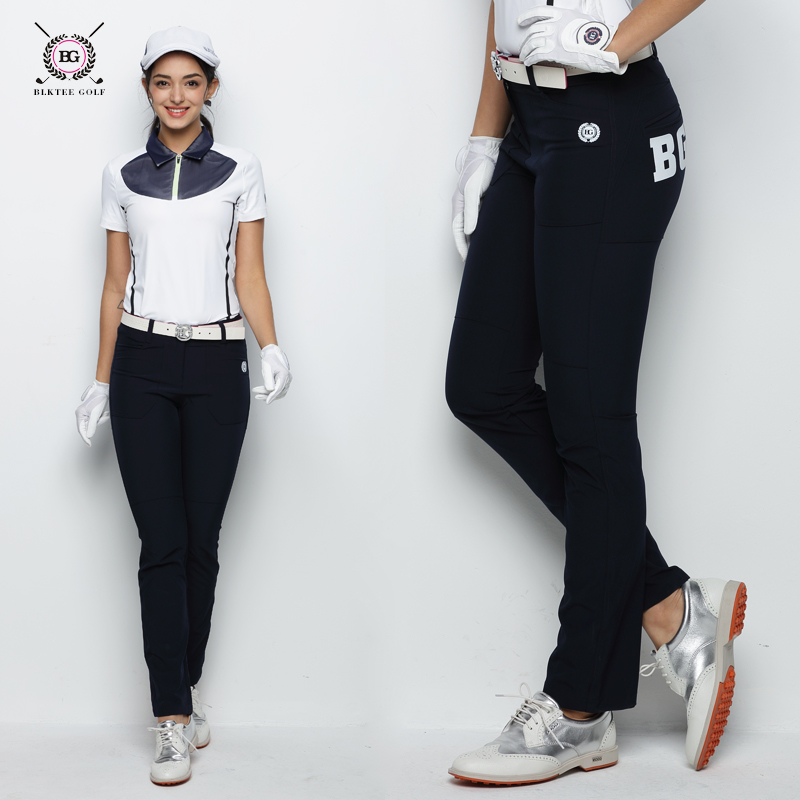 2018 summer golf pants women long sports pants lady trousers 3 colors S~XL blazer golf pants anti-fade cool white orange pants